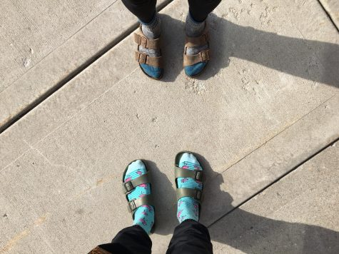Feet-ured: socks and sandals promote fashionable self-expression