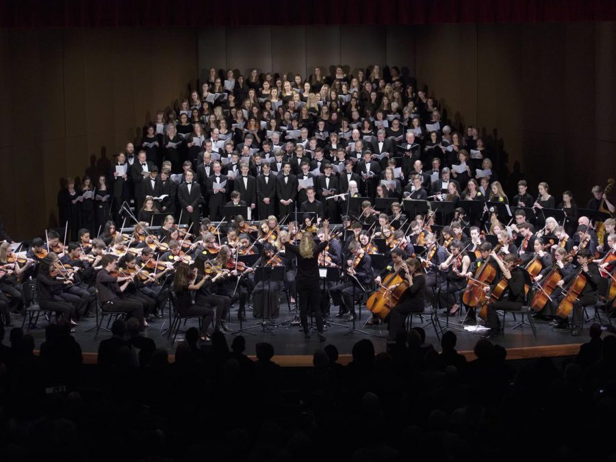 """US director of orchestra Almut Engelhard chooses each peice carefully, """"Both ensembles [of the orchestra department] focus on repertoire and composers that are well known...pieces and artists a person with a good background in music would be familiar with,"""" Engelhard said."""