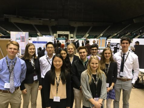 The students from the Advanced Science Research and Technology classes competed at the Twin Cities Regional Science Fair in March. Enneking-Norton, Hall, and Ellis qualified for ISEF at the regional fair. They will compete in Pittsburgh in May.