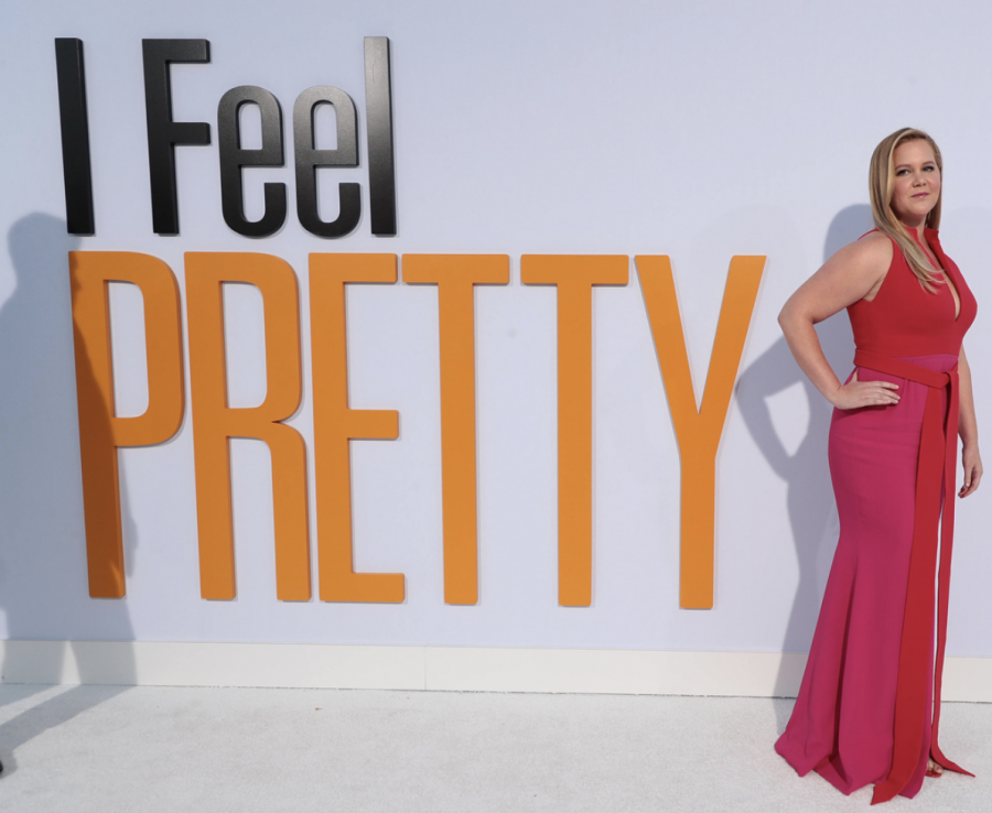 Amy Schumer at the premier of the movie I Feel Pretty, her latest role.