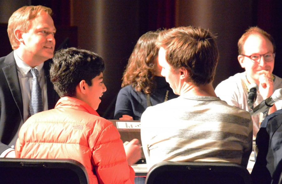 The first ever teachers vs. students quiz bowl tournament took place on Apr. 12 in the Huss Center.