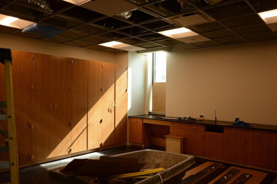 Students were able to get a peak at what the new science classrooms will look and feel like.