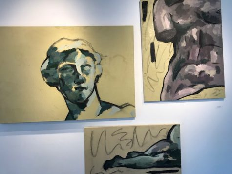 Senior Lillian Pettigrew's art work questions the connection between female bodies and art.