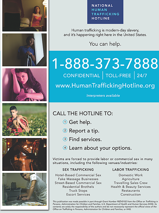 History of Women in the World hung these posters up around school to bring awareness to human trafficking.