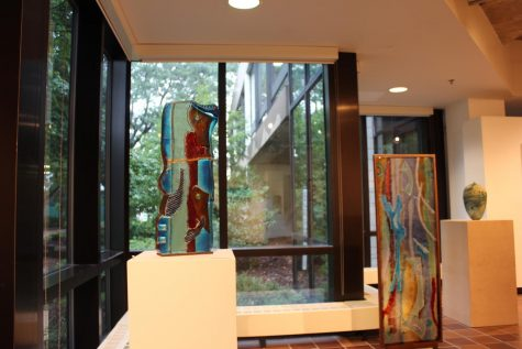 """By Peter Zelle '83. """"My art is an exercise of my intuition and my passion for color and form. I bring together shapes, patterns, textures, and colors in order to orchestrate a dynamic and harmonious whole... I want my work to create a sense of excitement -- a flash of recognition and the wonder of discovery."""