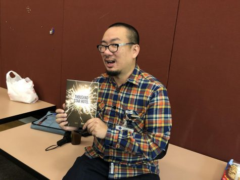 Bao Phi, an Asian American poet, talked about his poetry collection, Thousand Star Hotel.