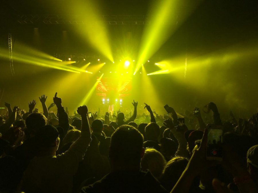A view from the crowd of the Wiz Khalifa concert held at The Amory.