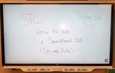 SmartBoards like these are common around the Schilling Center and soon will be added to many new classrooms.