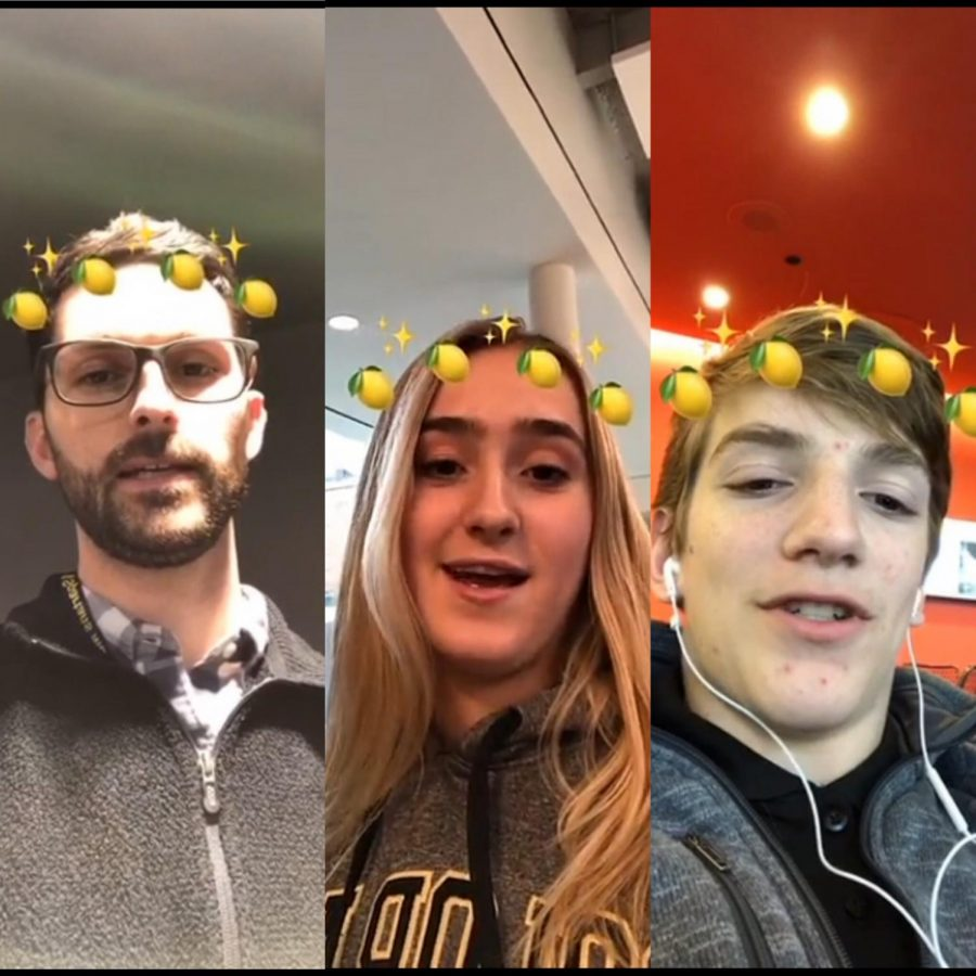 Students and faculty used the lemon filter to share their favorite fruit.