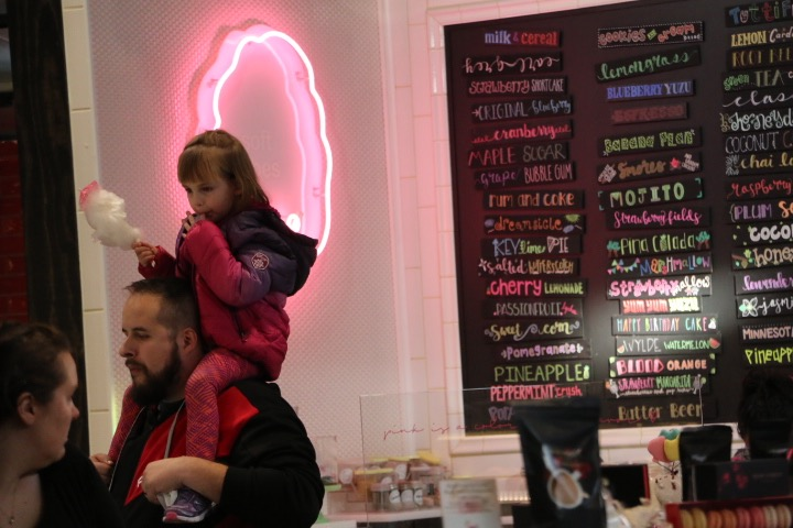 Spinning Wylde, a cotton candy shop, gives customers over 50 different flavor options for their cotton candy treats.