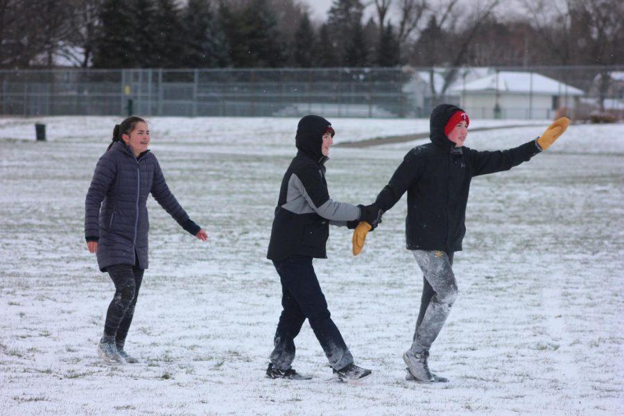 Sophomores Isabel Toghramadjian, Sam Kostan, and Bobby Verhey.