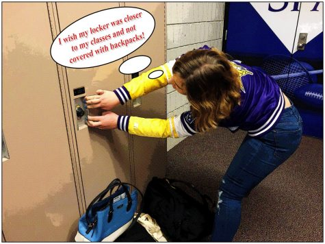 With students no longer wanting to use their lockers due to their inconvenient location, they simply dump them in front of others' lockers making it harder for all to access their belongings.