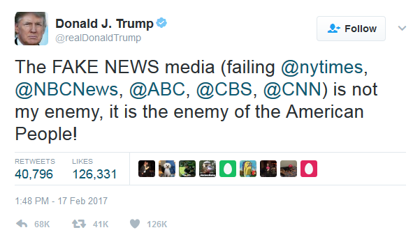 The press is not the enemy of the people