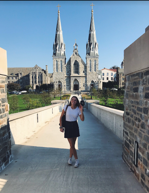 """Senior Janie Brunell reflects on her decision to apply Early Decision to Villanova University.  """"I have always been visiting Villanova, and I really liked it, but I didn't know what other colleges had to offer. So, I think in the summer was the time when I decided to go the ED route,"""" Brunell said."""
