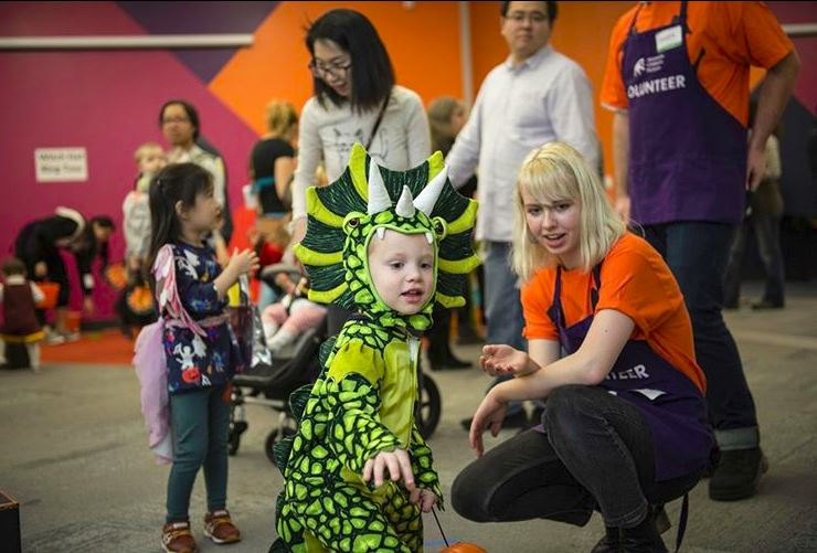 Volunteer opportunities at the Minnesota Children's Museum include different costume parties including the