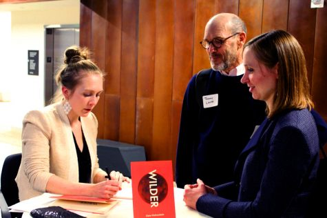 Claire Wahmanholm signed copies of Wilder at her book launch on Dec. 4.