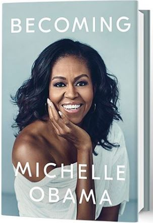 Becoming by Michelle Obama is a memoir of the hardships she has faced during her life before, during, and after her time as the First Lady of the United States.