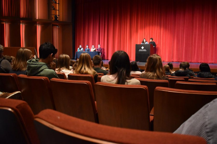 Students gather for an assembly on Jan. 31.