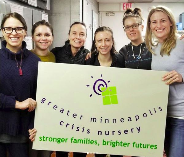 Minnesota based company Up Yoga visits the Crisis Nursery in Minneapolis.
