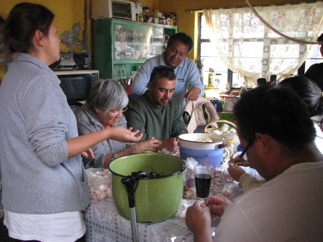 Karla Garcia and her relatives make tortillas and share stories