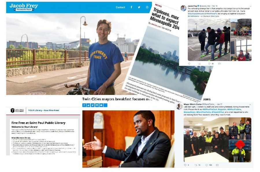 Mayor+of+Minneapolis+Jacob+Frey+and+Mayor+of+St.+Paul+Melvin+Carter--both+of+whom+sworn+into+office+last+January--represent++vanguards+for+social+change+in+the+Twin+Cities.+