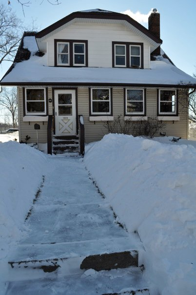 After a record snowfall in 2010, Kathryn Campbell documented the snow outside her house on 1800 Randolph Ave.