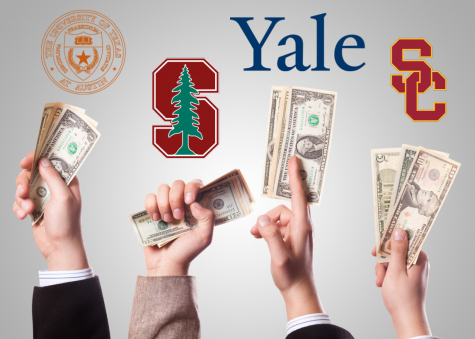 Corruption runs rampant in the admissions process at schools like Stanford, Yale, USC and UT Austin. Photo Illustration: Noah Raaum.