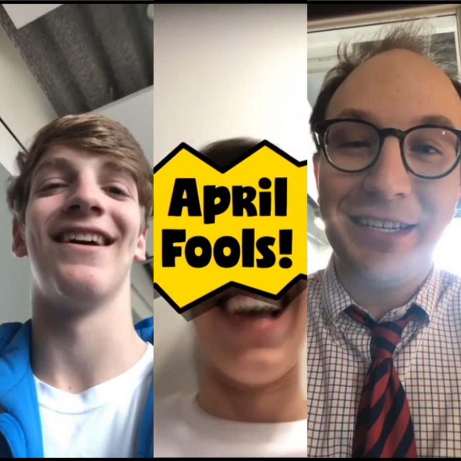 Students and faculty used the April Fools Day filter to share their favorite pranks.