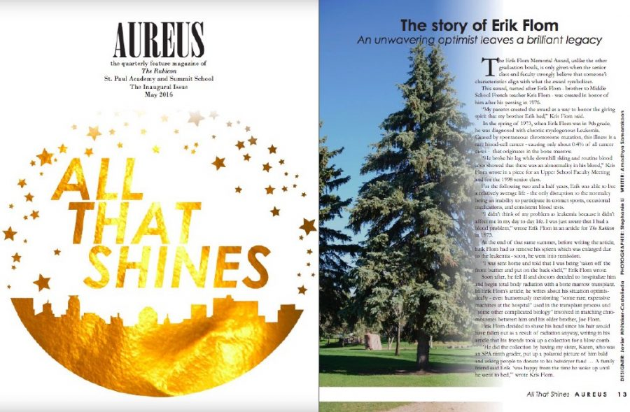 The story about Eric Flom was originally published in the May 2016 Inaugural Issue of Aureus feature magazine. The 2016 EIC was Megan Joyce.