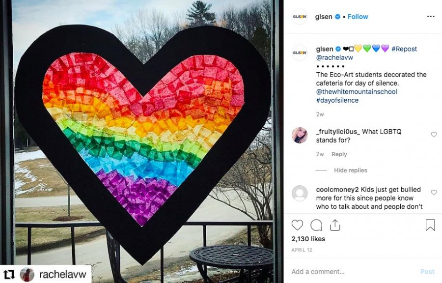 """The Day of Silence took place on Apr. 12 this year, but members of the GSA decided not to host or encourage participation: """"If LGBTQ people's voices around the world are erased every day in schools, why should we have to continue that silence, just in a more noticeable way?"""" GSA president Zoe Hermer-Cisek said."""