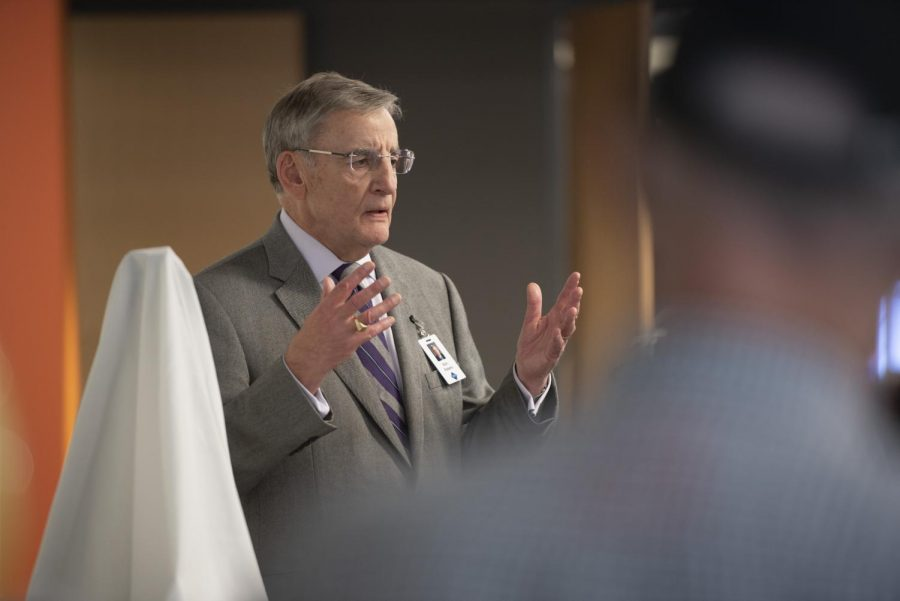 Head of School Bryn Roberts at the Hugh K. Schilling Math and Science Center Dedication in Fall 2018.