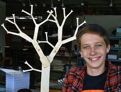 Grant Mortenson enjoys sculpture classes at SPA and would like to try photography next.