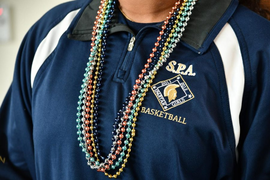 Junior Aman Rahman wears different colors of beaded necklaces to add a little something extra to her already SPA-supportive style.
