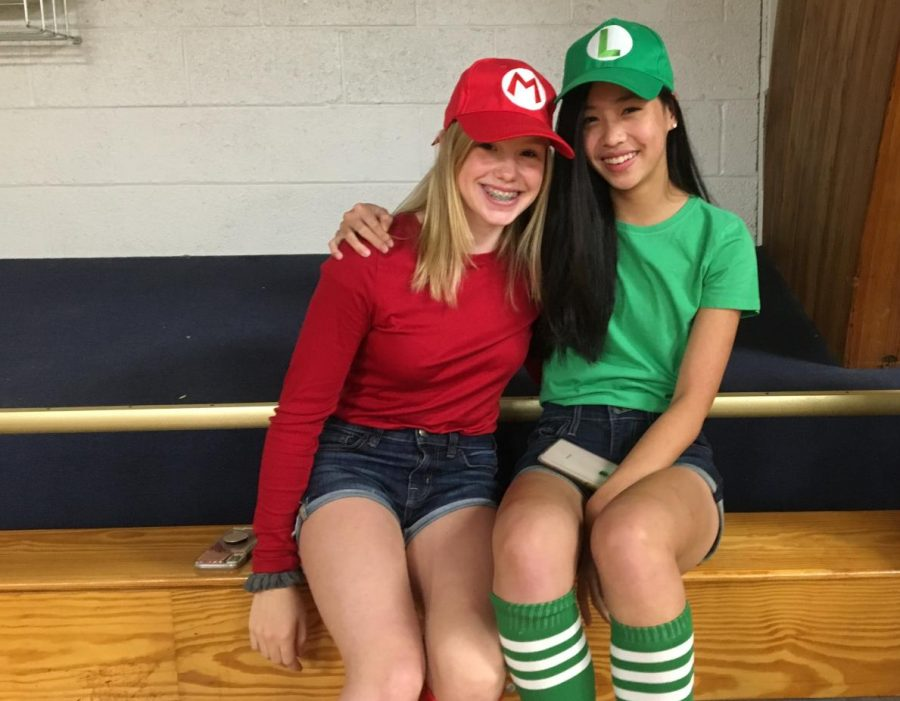 My friend and I were planning on doing something similar to this for Halloween, but since duo day came up we decided to do it sooner instead, 9th grader Gracie Hedberg said.