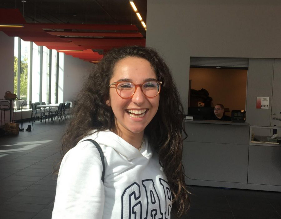 Spanish Exchange student Carlota Casamayor laughs at her funny experiences in Minnesota.
