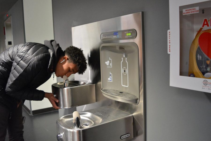 """My favorite water fountain at SPA is the one next to the engineering room, like on the first floor of Schilling… because I have a lot of classes around that area and I use that one a lot,"