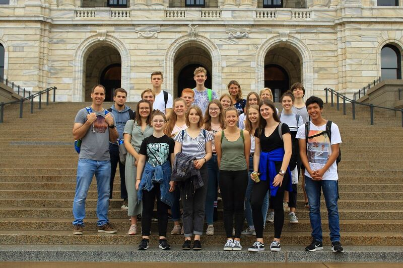The German Exchange students took photos during every leg of their journey. This one was taken at the Minnesota State Capitol.