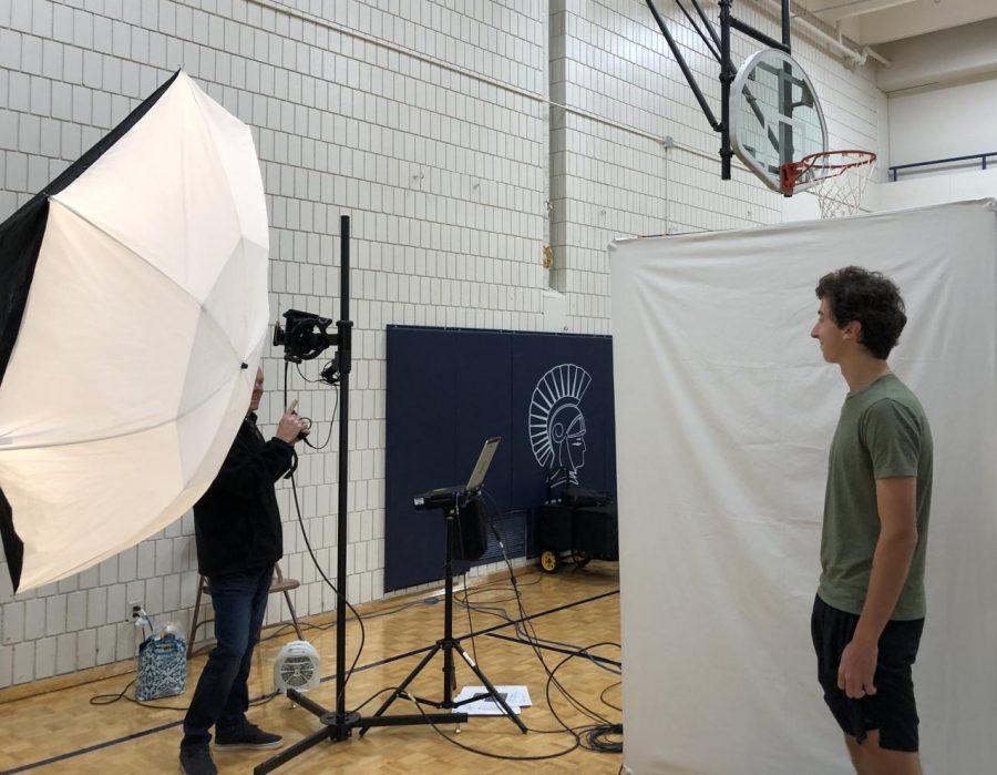 Junior Noah Lineman poses for his picture retake.