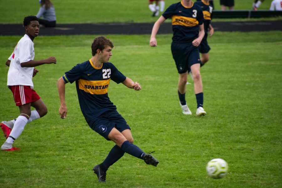 Captain Thomas Bagnoli passing the ball.  Photo Submitted by Kurt Waltenbaugh