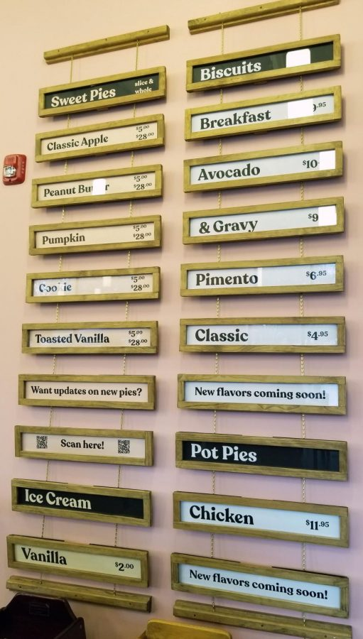 Their always-changing menu hangs on the wall to accommodate the seasonal meals.