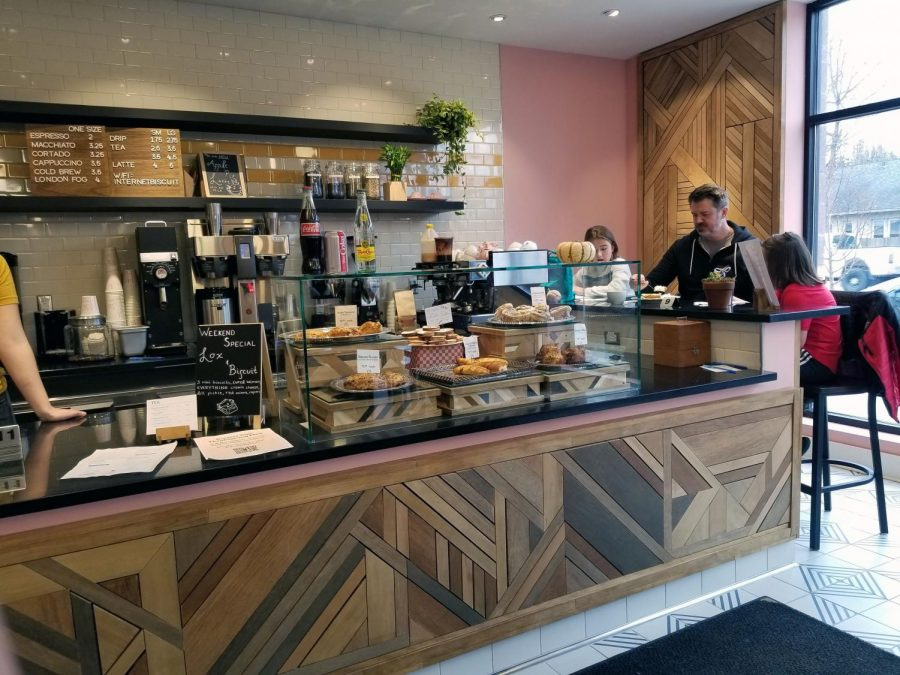 The front of the store is where their pastries are available as well as their selection of coffee and tea.