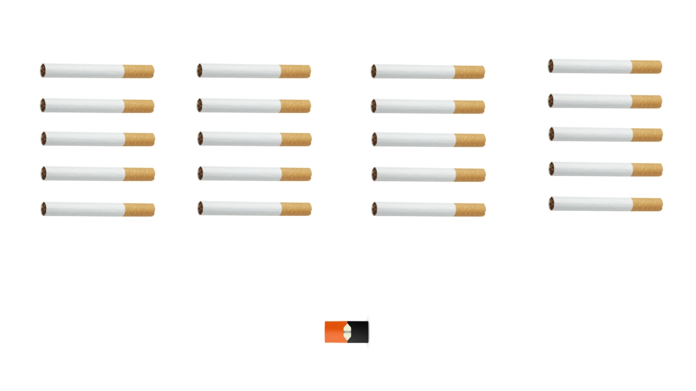 One juul pod has the same amount of nicotine as 20 cigarettes—and it's the new wave of this generation.