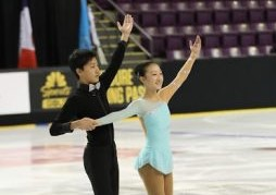 "Andrew Bai competes with his sister, Annie Bai, in figure skating competitions. ""We [my sister and I] can connect slightly better than other pairs, as siblings,"" he said. Bai won gold at the Midwestern Figuring Skating Sectional Championships in November."