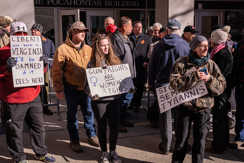 Thousands of protestors gathered outside the Virginia State Capitol on Jan. 20 to protest tightening gun control measures.