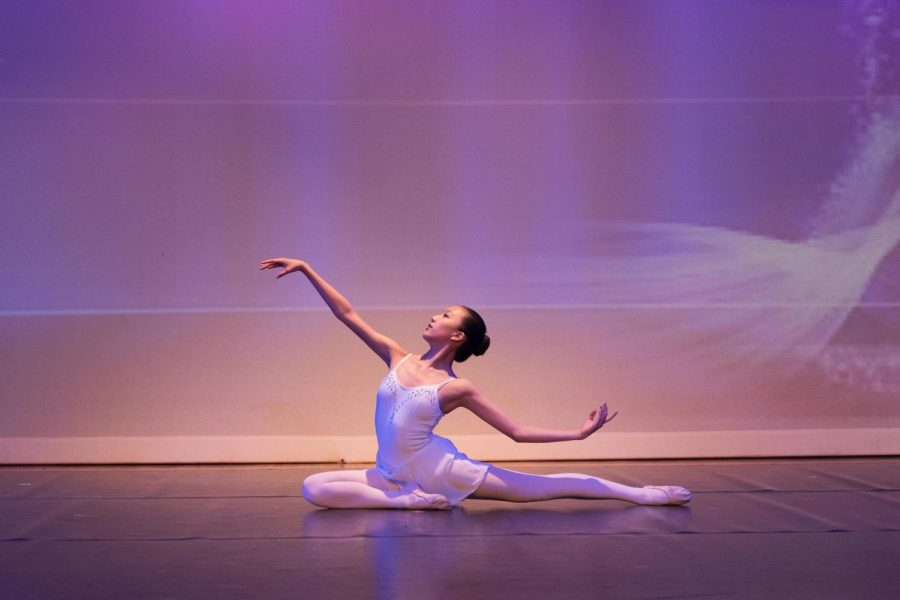 """Senior Ashley Su has studied ballet for the past 10 years: """"Ballet is more of like this Western type of dance, and going into ballet was more of a challenge because I wasn't great at it. It was a different atmosphere because when you learn ballet, there's less of that cultural connection,"""" she said."""