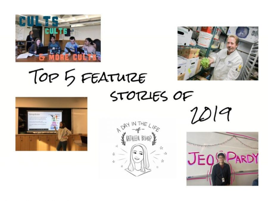 An illustration with the top 5 feature story featured images.