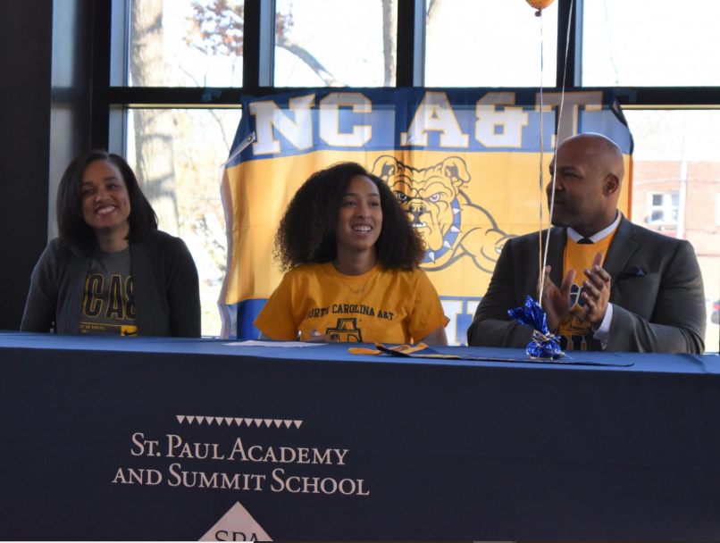 Senior Arie Walker committed to play Volleyball at North Carolina A&T State University in November.
