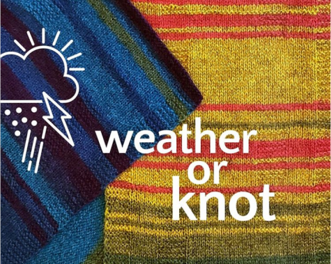 The Yarnery in St. Paul sells the Weather or Knot kits to create a timeline of weather events in a wearable accessory to spread awareness about environmental data protection.