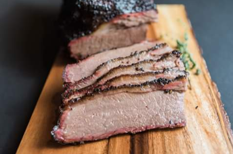 FireBox's beef brisket is one of two ways they offer meat; the other being ribs.