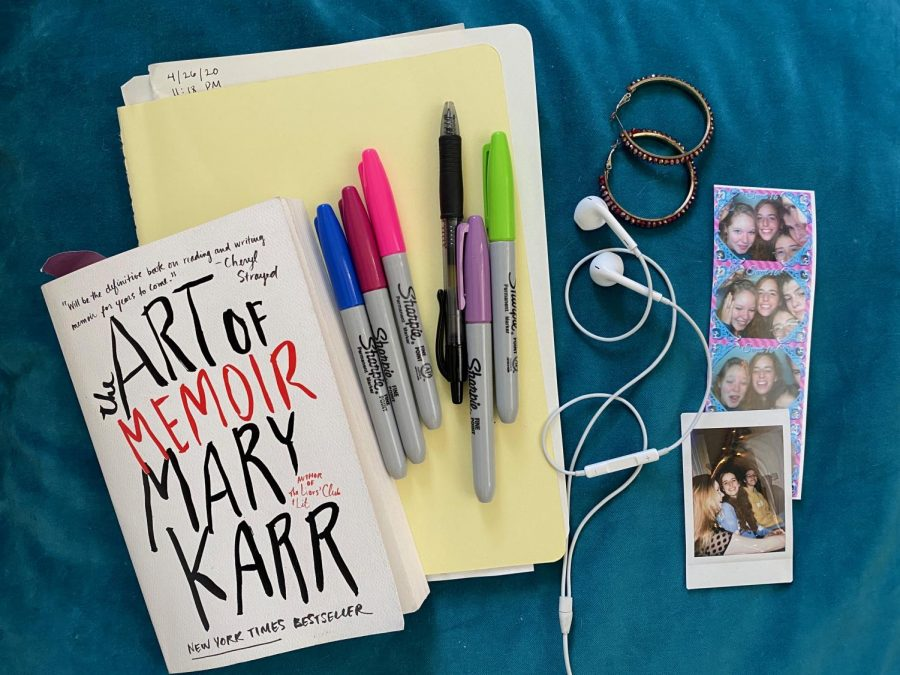 My most obvious at-home essentials are earbuds and a good book - I'm currently reading